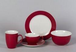 Doppio Ritzenhoff & Breker Müslischale rot kombiniert mit weiß