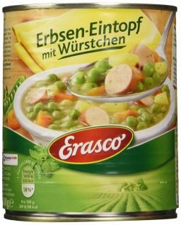 Erasco Erbsen-Eintopf mit Würstchen , 3er Pack (3 x 800 g Dose)