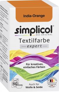 Simplicol Textilfarbe expert India Orange