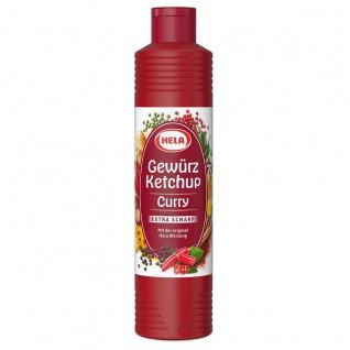 Hela Curry Gewürzketchup extra scharfen Geschmack 800ml 12er Pack