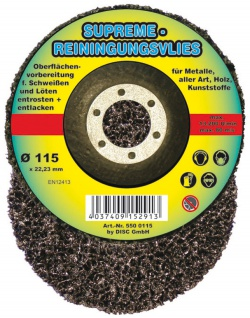 Supreme Reinigungsvlies für Metalle aller Art entlacken 115x22.3mm