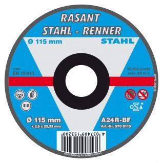 Rasant Stahl Renner Trennscheibe 115mm für Heim und Handwerker 5 Stück