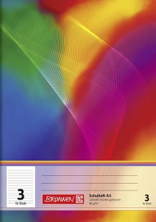 Schulheft DIN A5 FSC Lineatur 3