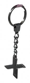 Schlüsselanhänger Taschenanhänger Buchstabenform X in silber