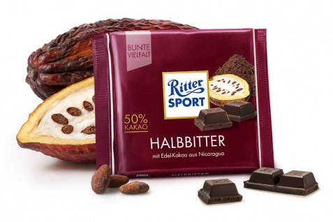 Ritter Sport Halbbitter mit Edel Kakaoanteil aus Nicaragua 100g