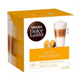 Nescafé Dolce Gusto Latte Macchiato Kaffee 8 Getränke 16 Kapseln