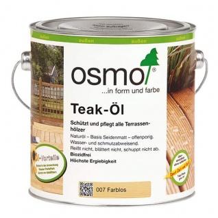 Osmo Teak Öl farblos für zahlreiche Edel und Nadelhölzer 750ml