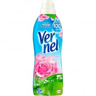 Vernel Wild Rose Frische Momente Weichspülerkonzentrat 1000ml 4er Pack
