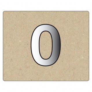 Spiegelornamente Zahl 0