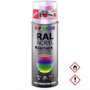 Dupli Color RAL Acryl Klarlack Glänzend Ausgezeichnete Haftung 400m