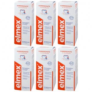 Elmex Kariesschutz Zahnspülung 6er Pack 2400ml