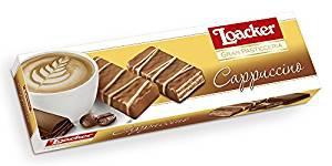 Loacker Cappuccino Waffelgebäck mit Kaffeecreme Milchschokoladenüberzug 100g