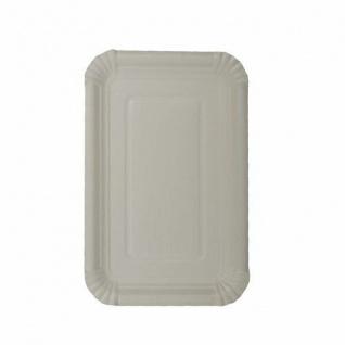 Papstar Einweg Teller Tablett aus Pappe eckig weiß 13 cm 250 Stück