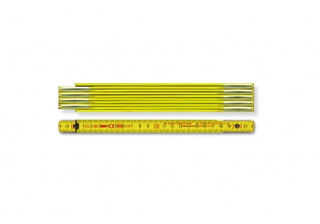 Holzgliedermastab gelb 1m