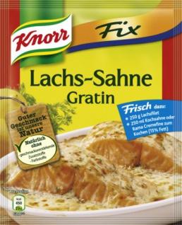 Knorr für Lachs Sahne Gratin mit würziger Creme sauce 252g, 9er Pack