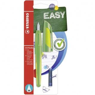 STABILO EASYbuddy Schreiblernfüller Federstärke M Farbe limette grün