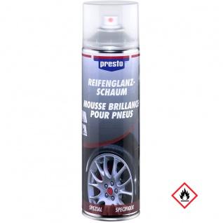 Presto Reifenglanz Schaum Reinigung und Pflege für Reifen 500ml