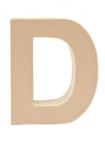 """Pappmache Buchstabe """" D"""" stehend zum basteln kreativ Rico Design Idee"""