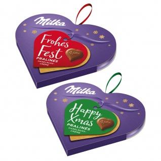 Milka Happy Xmas Frohes Fest Baumschmuck Pralines Haselnusscreme 44g