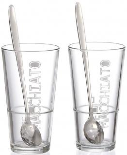 Ritzenhoff und Breker Latte Macchiato Gläser Lena mit Löffel 4teilig