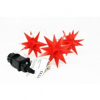 Weihnachtsstern 3D LED 3er Lichterkette in rot für Innen und Außen