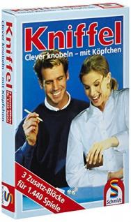 Schmidt Spiele - Kniffelblock, 3 Zusatz-Blocks für 1440 Spiele