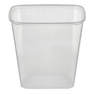 100 Verpackungsbecher, PP eckig 500 ml 10, 1 cm x 8, 1 cm x 10, 8 cm transparent - Vorschau