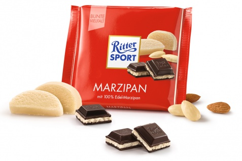 Ritter Sport Marzipan mit leckerem und feinem Edel Marzipan 100g
