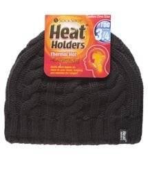 Thermo Mütze Heat Holders Wintermütze Damen schwarz Einheitsgröße