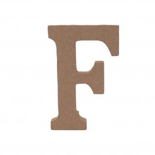 Bastelbuchstabe F Holzbuchstabe zum basteln Buchstabe aus Holz