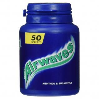 Wrigley's Airwaves Menthol and Eucalyptus Dose 50 zuckerfreie Dragees