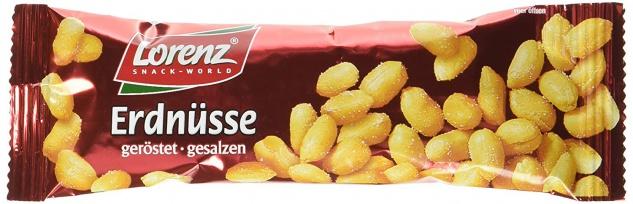 Lorenz Snack World Erdnüsse geröstet, gesalzen Riegel, 28er Pack (28 x 40 g)