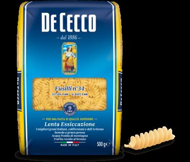 De Cecco Fusilli Nr 34 Pasta di semola di grano duro 500g 24er Pack