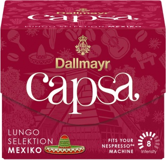 Dallmayr 10 Capsa Lungo Selektion Mexiko Röstkaffee Kapseln 56g