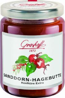 Grashoff Sanddorn-Hagebutten-Konfitüre Extra, 250 g, 3er Pack (3 x 250 g)