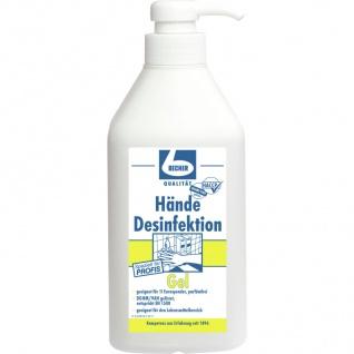 Dr. Becher Hände Desinfektion Gel trocknet schnell hautschonend 1000ml