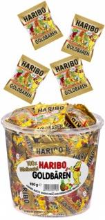 Haribo Minibeutel Goldbären Fruchtgummi im Miniformat 980g 18er Pack