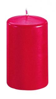 Kerzen Stumpenkerzen Candle rubin 80x60mm RAL Qualität 1 Stück