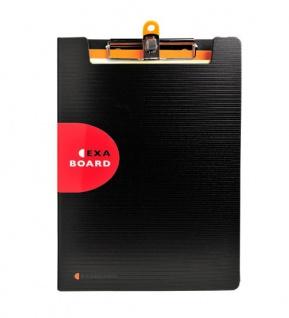 Klemmbrett Exaboard zur Ablage von Dokumenten DIN A4 inkl. Schreibblock 5er Pack