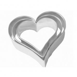 Ausstecher Herz 3 fach