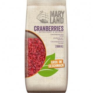 Maryland Cranberries getrocknet und gesüßt Groß im Geschmack 1000g