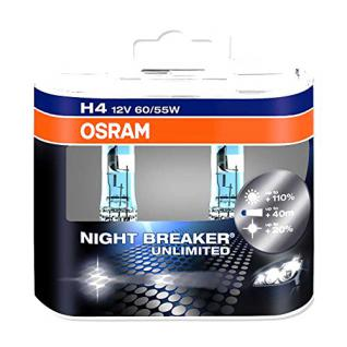 OSRAM Lampe H4 12V 60/55W Duo Night Breaker Unlimited Weiss 4052899017214