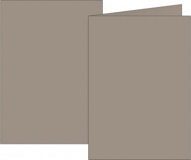 Doppelkarten taupe DIN A6 160g