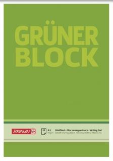 Briefblock DIN A5 Gruen unliniert