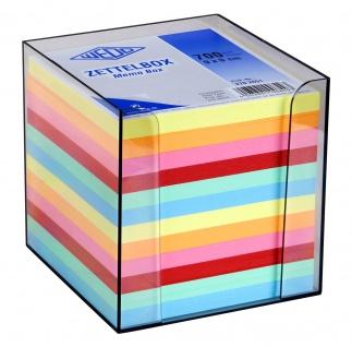 WEDO Zettelbox aus Kunststoff gefüllt mit circa 700 Blatt 90 x 90mm