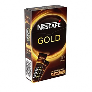 Nestlé Nescafe Gold löslicher Kaffee, 10 Sticks, 20 g