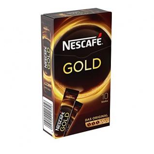 Nestlé Nescafe Gold löslicher Kaffee 10 Sticks 20g