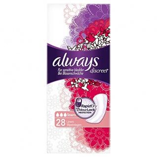 Always Discreet Inkontinenz Slipeinlagen bei Blasenschwäche 130g
