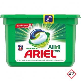Ariel Vollwaschmittel All in One Pods Universal für 16 Waschladungen