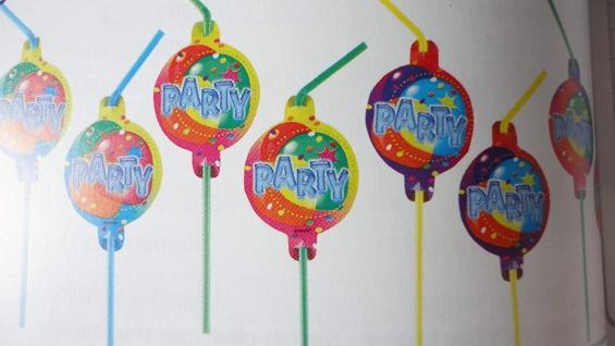 8 Trinkhalme Balloon Party 2